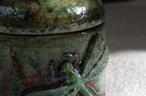 Art nouveau box with dragonfly