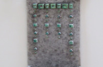 Art deco wall holder with wrought iron