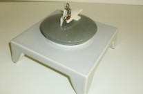 Big jewelry box with figure