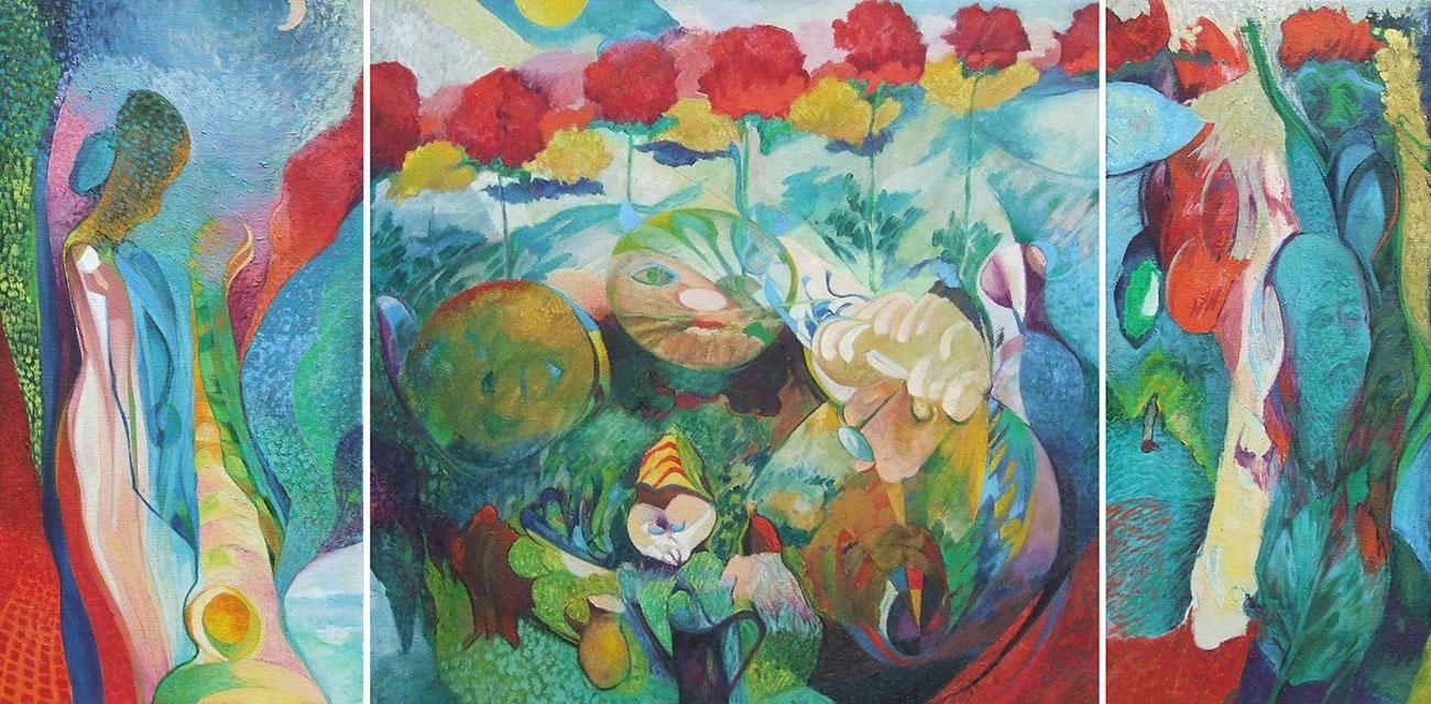 András Berkes: Spirits' garden (triptichon)