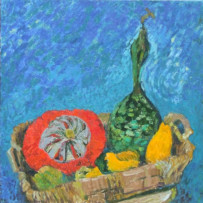 Gourd on blue